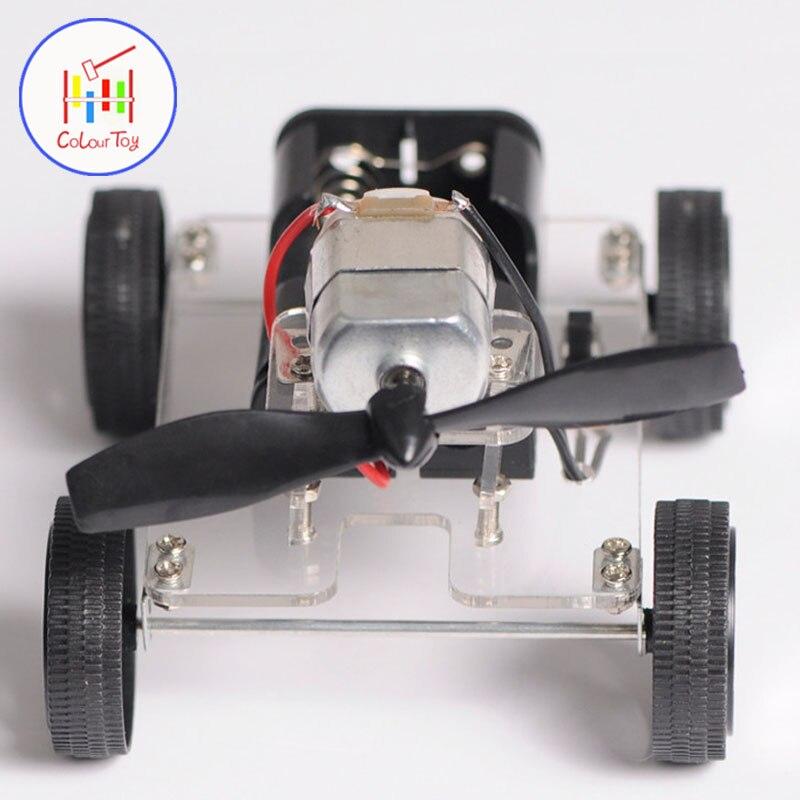 Mini Moteur BRICOLAGE Robot Kit L'éducation de Montage Intelligent Moulinet Vent Voiture Enfants Jouets Pour 3 + Enfants Puzzle Batterie D'anniversaire cadeaux