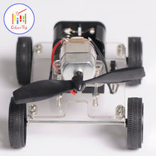 Mini Motor DIY Robot Kit Education Assembly Smart Windmilling Wind Car Kids Toys For 3+ Children Puzzle Battery Birthday Gifts(China)