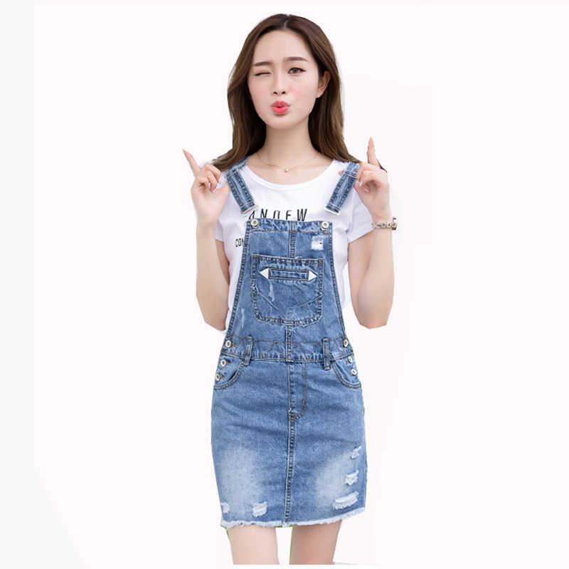 2c682fcae7e New 2018 Women s Summer Fashion Blue Denim Jeans Sundress Dress Female  Student Short Strap Overs Dresses