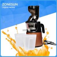 ZONESUN Electric Slow Juicer Household Fresh Fruit Juice Machine/Fruit Vegetable Juice Extractor