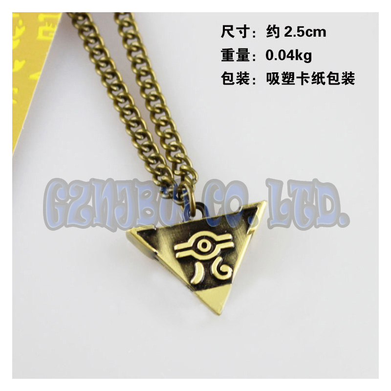 Anime Yu-Gi-Oh Bronze Metal Necklace YUGIOH Millenium Puzzle Pendant Jewelry Toy Yu Gi Oh Cosplay halloween christmas Gift