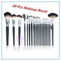 The Professional 20 Pcs Powder Foundation Makeup Brush Lipstick Brush Eyeshadow Eyeliner Brush Cosmetics Tool
