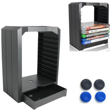 цена на PS4 PS 4 Universal Game Storage Showcase Tower 10 CD Games holder for Playstation 4 PS4 Slim Pro Xbox ONE Xbox 360 accessories