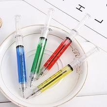 6PCS Korean Creative stationery for school pen syringe Shape Cute Stationery Ballpoint office & supplies rollerball Pen