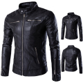 Good quality JACKETS Men Slim Motorcycle jackets New Fashion Male solid Leather & Suede Outwear Coats Jaqueta Leather clothing