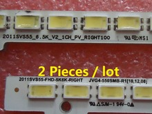 UA55D6600WJ LTJ550HW01 BN64-01664A LED strip 2011SVS55-FHD-5K6K-LEFT RIGHT 680mm 100LED 2 Pieces/lot dhc 2 beaver eps 680mm pnp without battery
