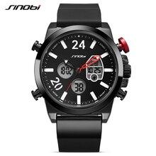 SINOBI Luxury Brand Military Sport Watch Men Dual Digital Quartz Watches Full Steel Chronograph Wrist Clock Relogio Masculino стоимость