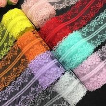 Artisanat bilatéral en filet brodé dentelle | 10yds, 40mm de large, ruban d'habillage, décorations pour mariage/anniversaire/noël/nœud