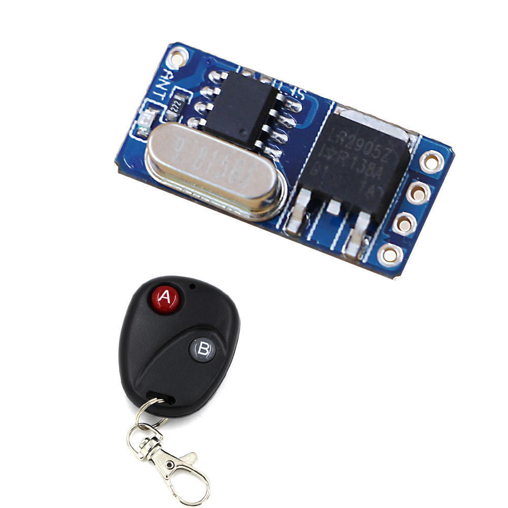 Micro Remote Control Switch Mini Receiver 3.5V 4.5V 5V 6V 7.4V 8.4V 9V 12V Long Range Small Receiver Transmitter 315/433MHZ small ac220v remote control switch long range transmitter receiver 200 3000m lamp light led remote lighting switch 315 433 92mhz