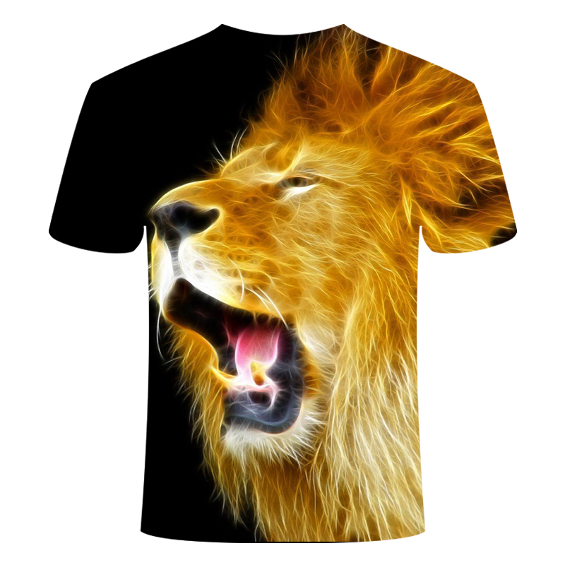 Lion T Shirt Men Animal <font><b>Tshirt</b></font> <font><b>Sex</b></font> <font><b>Funny</b></font> T Shirts Slim 3d Print T-shirt Hip Hop Tee Cool Mens Clothing 2019 New Summer Top image