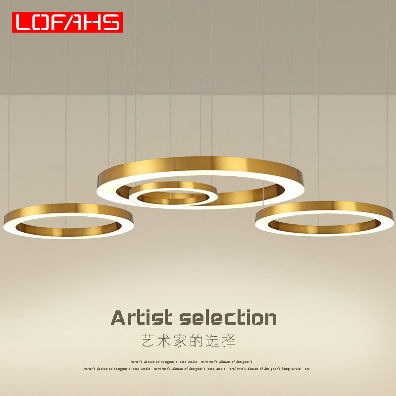 LOFAHS Modern LED Chandelier Luxury Large Combination Circle For Living Room Led-lamp Hanging Fixtures Ring Chandeliers Lamp