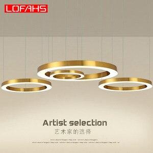 Image 1 - LOFAHS Modern LED avize lüks büyük kombinasyon daire oturma odası için led lamba asılı fikstür yüzük avizeler lamba
