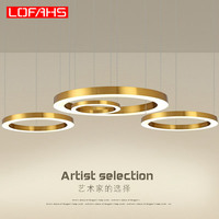 LOFAHS Modern LED chandelier Luxury Large combination circle for Living Room led lamp Hanging Fixtures ring Chandeliers lamp