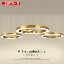 Lofahs Moderne Led Kroonluchter Luxe Grote Combinatie Cirkel Voor Woonkamer Led Lamp Opknoping Armaturen Ring Kroonluchters Lamp