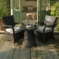 Hot Sale modern furniture coffee shop PE rattan table and 2 chairs