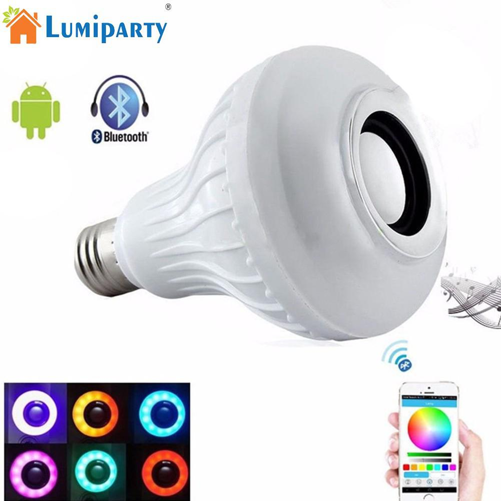 Smart E27 RGB Bluetooth Speaker LED Bulb Light 12W Music Playing Dimmable Wireless Led Lamp with 24 Keys Remote Control стоимость