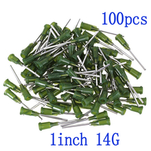 "100pcs, Dispensing Needles Syringe Needle Blunt Tip with Luer Lock 14Gauge x 1""(1Inch Length),Screw Interface 14Ga"