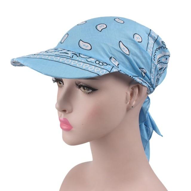 Sleeper #501 2019 NEW FASHION Women India Muslim Retro Floral Cotton Towel Cap Brim Turban Baseball Hat Wrap hot Free Shipping 8