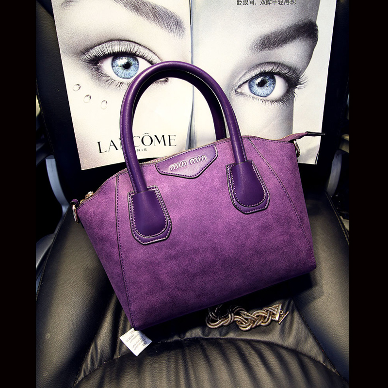 ФОТО 2016 New Arrival Fashion Trapeze Smiley Bag Women leather Handbag Casual Purse lady messenger bag 5 color hot sale bag
