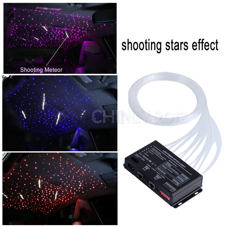 16W TWINKLE RGBW Engine RF Remote Control LED Fiber Optic 450pcs 3m with shooting Meteor Effect Home Ceiling Car Roof Lights