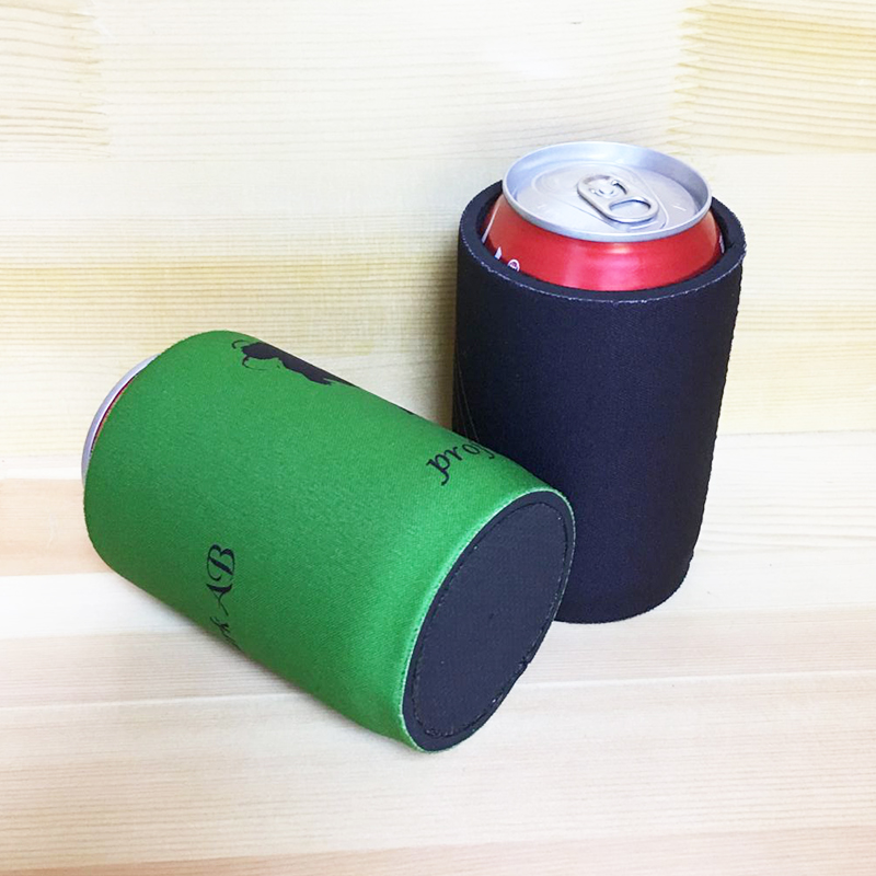 50pcs Neoprene Stubby holders with Customized LOGO Printing Beer Bottle Can Coolers with Bottom Small Order