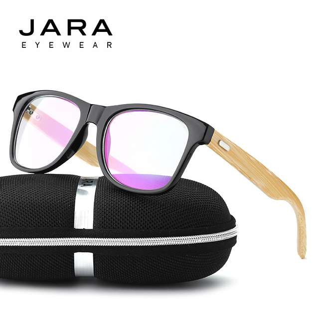 214913537a5 JARA 2017 Men Brand Fashion Wooden Frame Design Glasses Retro Bamboo Leg  Classic Eyeglasses Frame UV400 Goggles For Women J1038