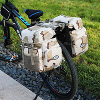 50L Waterproof Cycling Bicycle Rear Bag Lightweight Durable Nylon Bicycle Rear Seat Trunk Bag Handbag Storage Pannier Two Bag