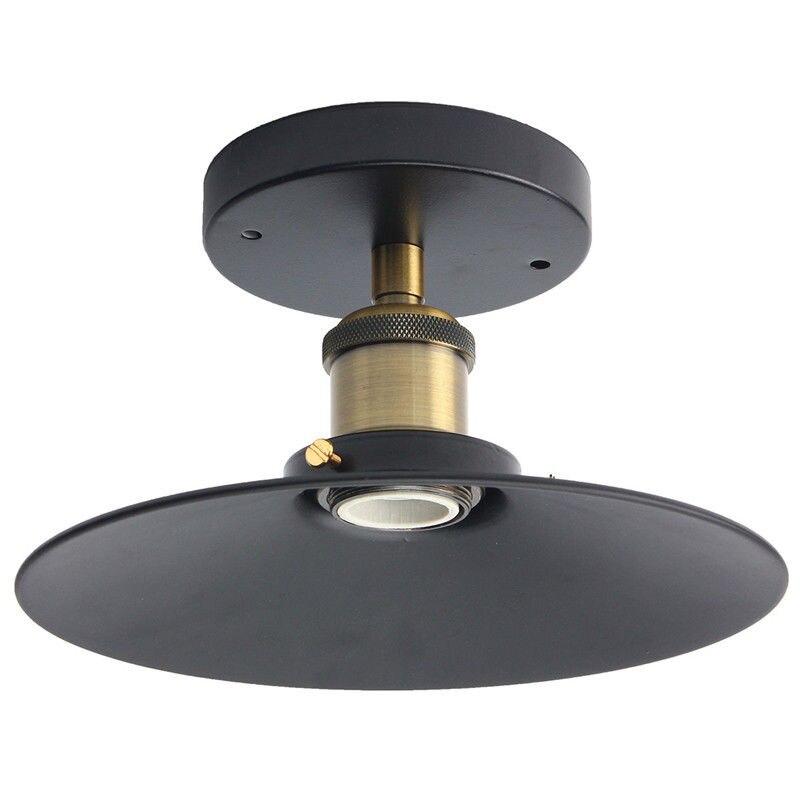 Industrial E27 Retro Ceiling Light Copper Ceiling Lamp Holder For Living Room Bedroom Bar Decoration 60W Black e27 lamp base holder copper retro