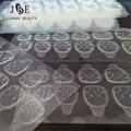 50 Hoja/Lot Pegamento Adhesivo Lateral Doble Respirable Transparente Etiqueta Adhesiva Pegamento de Uñas Para Falso falso Nails Art Decoración herramientas