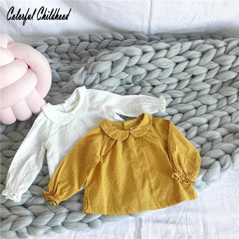 Shirt Children Baby-Girls Clothing Spring Autumn Kids Peter Cotton Blouses Pan-Collar