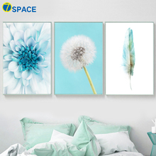 Flower Dandelion Feather Nordic Posters And Prints Wall Art Canvas Painting Pop Print Pictures For Living Room Decor
