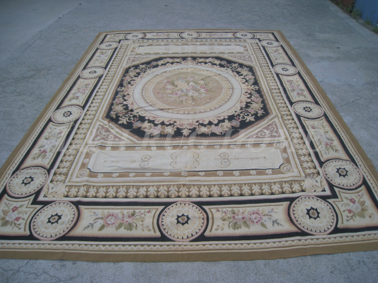 Free shipping 2015 New Design of 9'x12'  French Aubusson rug, French - Home Textile