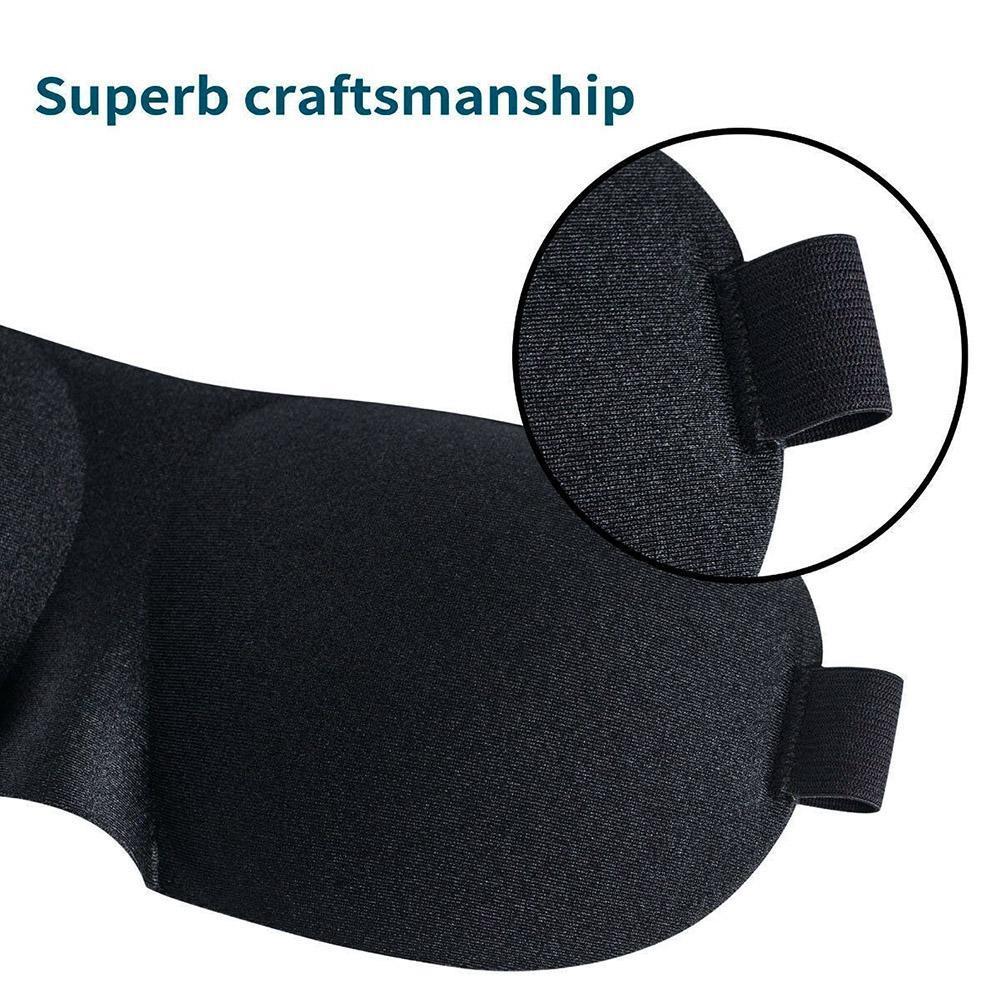 3D Sleep Mask Sleeping Eye Mask Eyeshade Cover Shade Eye Patch Lightweight Soft Portable Blindfold Travel Eyepatch Comfortable 3