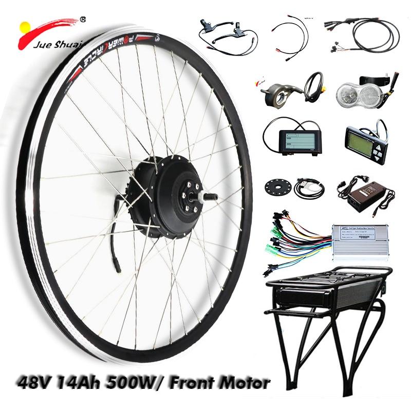 Electric Bike Conversion Kit 48V 500W 14AH LG Battery Electric Bicycle Motor Wheel Hub Motor Bike Cycling Ebike Conversion Kit