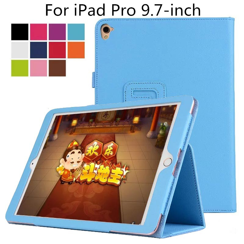 все цены на For iPad Pro 9.7,Slim Folding PU Leather Case Cover For Apple iPad Pro 9.7-inch Tablet(With Smart Cover Auto Wake / Sleep) онлайн