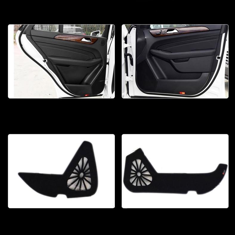 Ipoboo Savanini 4pcs Fabric Door Protection Mats Anti-kick Decorative Pads For Benz M Series 2012-2015 ipoboo 4pcs fabric door protection mats anti kick decorative pads for hyundai elantra 2012 2015