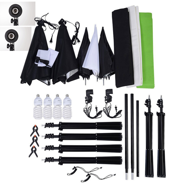 photography lighting kits 32m photography backdrop support stand tripod backdrops chromakey green black white