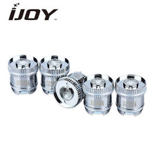 5pcs Original IJOY Reaper Replacement Dual Coils 0.5ohm/0.6ohm Coil Made of 100% Organic Cotton Good Flavor for Reaper RBA Tank