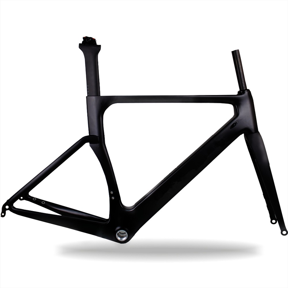2017 best disc road bikes carbon frame 700 28C MAX tire high quality T700 Toray carbon fiber 49cm 52cm 54cm 56cm 58cm in Bicycle Frame from Sports Entertainment