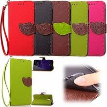 Elegant Leaf Design PU leather Wallet Case For Meizu M2 Note case Wallet Card Holder stand
