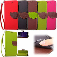 Elegant Leaf Design PU leather Wallet Case For Meizu M2 Note case Wallet Card Holder stand Flip Mobile Phone Bags cover