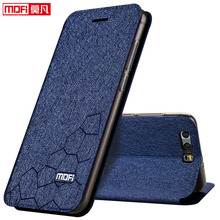 Huawei Honor 9 чехол Huawei Honor 9 чехол кожаный чехол флип Назад Силиконовый Mofi черный матовый блеск роскоши Huawei Honor 9 чехол