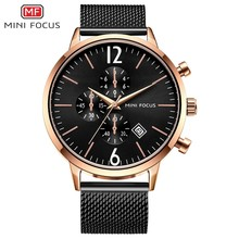 MINI FOCUS Fashion Watch Men Waterproof Watches 2019 Luxury Brand Stainless Steel Sport For Clock Wristwatches