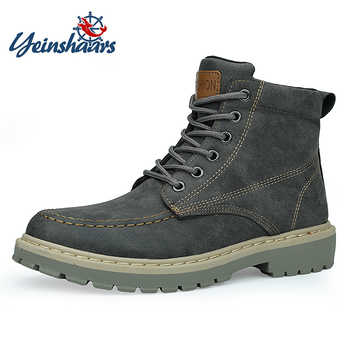 YEINSHAARS Boots Men Super Warm High Quality Winter Leather Shoes Leisure Skid Boots Retro Men Lace Up Sneaker Casual Shoes - DISCOUNT ITEM  34% OFF All Category