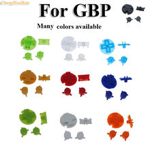 ChengHaoRan 15colors 1Set Colorful Replacement Buttons Set Replacement For Gameboy Pocket GBP On Off Button AB Buttons D Pads