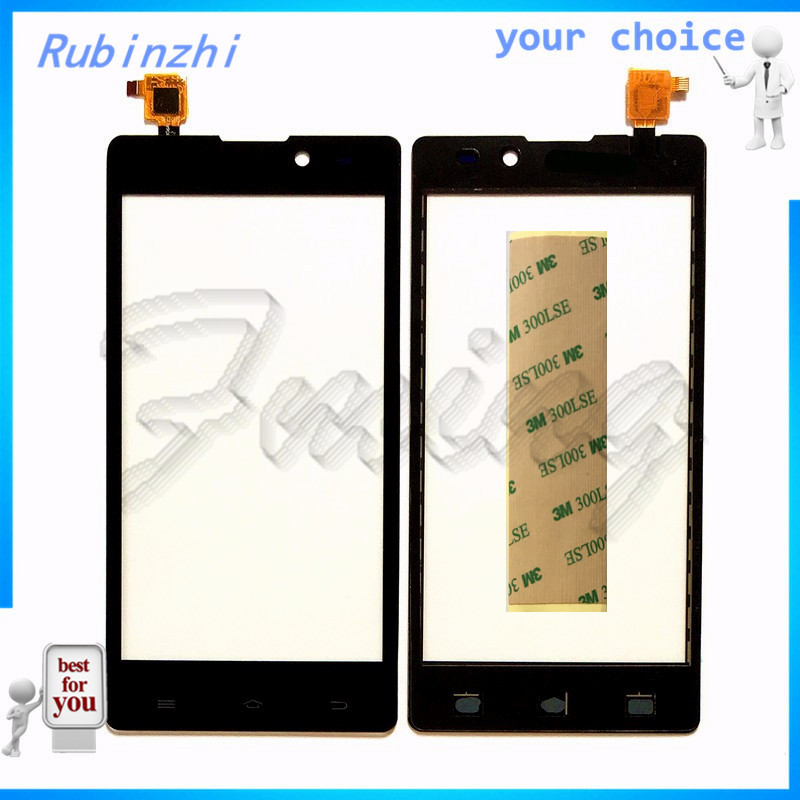 RUBINZHI With Tape Mobile Phone Touch Panel Touchscreen For Archos 50 Neon Touch Screen Front Glass Capacitive Sensor Lens Parts