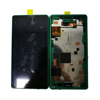 szHAIyu Tested New Working LCD Display+Touch Screen For Sony Xperia Z3 Mini Compact LCD Display with frame