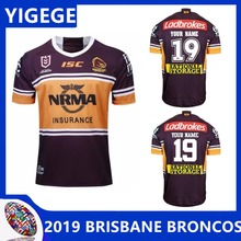 5cbcfc978df YIGEGE HOME NRL top Brisbane rugby jerseys 2019 Broncos shirt size S-3XL
