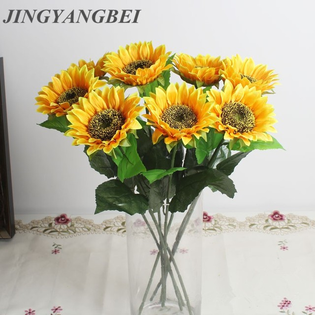 1pcs Artificial Silk Daisy Flower Bouquet Sunflower Chrysanthemum Home Decorations Wedding Decorate
