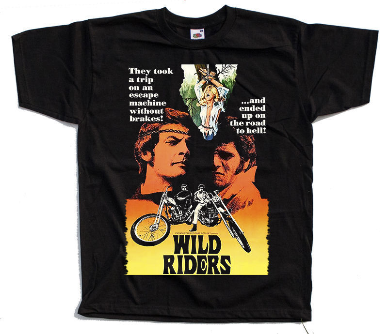 Wild Riders Movie Poster 1971 T Shirt All Sizes S To 4Xl